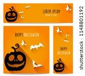 happy halloween vector ... | Shutterstock .eps vector #1148801192