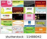 collection business cards... | Shutterstock .eps vector #11488042
