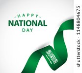 happy saudi arabia independent... | Shutterstock .eps vector #1148804675