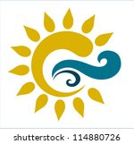 vector drawing of the sun and... | Shutterstock .eps vector #114880726