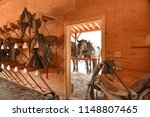 draft and saddle horses in a... | Shutterstock . vector #1148807465