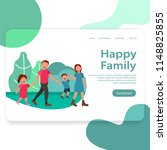 happy family web illustration...