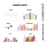 business data visualisation... | Shutterstock .eps vector #1148831825