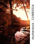 Stock photo autumn lake 114883516