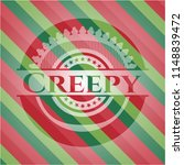 creepy christmas emblem. | Shutterstock .eps vector #1148839472