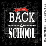 hand drawn welcome back to... | Shutterstock .eps vector #1148847578