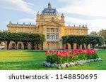 king tomislav park in zagreb on ... | Shutterstock . vector #1148850695