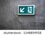 a front view exit sign witch... | Shutterstock . vector #1148854928
