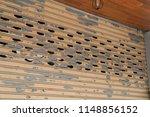 stainless rolling shutter door... | Shutterstock . vector #1148856152
