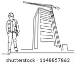continuous line drawing of... | Shutterstock .eps vector #1148857862