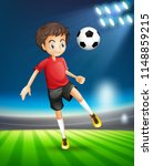 soccer playing kicking ball... | Shutterstock .eps vector #1148859215
