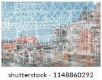 scene street view  panorama... | Shutterstock .eps vector #1148860292