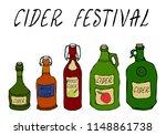 cider festival. apple or pear...   Shutterstock .eps vector #1148861738