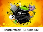 illustration of cauldron with... | Shutterstock .eps vector #114886432