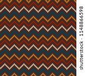 chevron abstract knitted... | Shutterstock .eps vector #1148866598