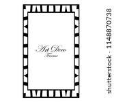 art deco black ornamental...   Shutterstock .eps vector #1148870738