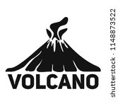 volcano mountain logo. simple... | Shutterstock .eps vector #1148873522