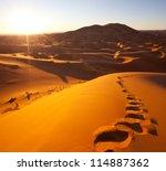 sahara desert | Shutterstock . vector #114887362