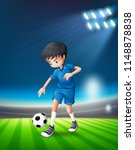 a soccer player at stadium... | Shutterstock .eps vector #1148878838