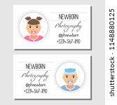 business cards for newborn... | Shutterstock .eps vector #1148880125
