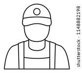 petrol station man icon.... | Shutterstock .eps vector #1148882198