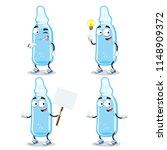 set of cartoon medical ampoule... | Shutterstock .eps vector #1148909372