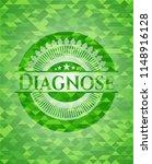 diagnose green mosaic emblem | Shutterstock .eps vector #1148916128