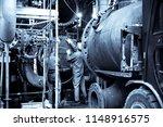 assembling a heat exchanger... | Shutterstock . vector #1148916575