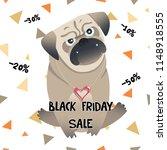 little pug sale card. cute pet. ... | Shutterstock .eps vector #1148918555