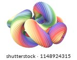 Abstract Rainbow Shape. 3d...