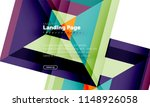 square shape geometric abstract ... | Shutterstock .eps vector #1148926058