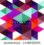 multicolored triangles abstract ... | Shutterstock .eps vector #1148930405