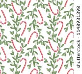 new year's pattern for fabric... | Shutterstock . vector #1148931398