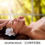 spa facial massage   Shutterstock . vector #114893386