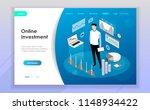 business investment modern flat ... | Shutterstock .eps vector #1148934422