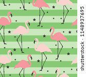 flamingo seamless pattern on a... | Shutterstock .eps vector #1148937695