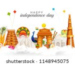 illustration of happy... | Shutterstock .eps vector #1148945075