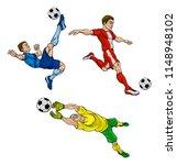 soccer football players... | Shutterstock .eps vector #1148948102