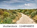 sandy footpath in a landscape... | Shutterstock . vector #1148948855