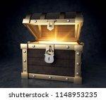 3d illustration treasure chest | Shutterstock . vector #1148953235