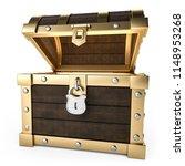 3d illustration treasure chest... | Shutterstock . vector #1148953268