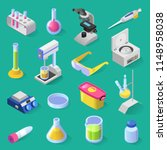 vector set of laboratory... | Shutterstock .eps vector #1148958038