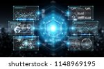 digital screens interface with... | Shutterstock . vector #1148969195