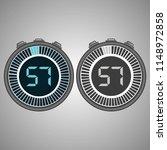 electronic digital stopwatch.... | Shutterstock .eps vector #1148972858