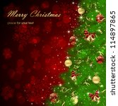 background with christmas tree  ... | Shutterstock .eps vector #114897865