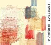 contemporary art. hand made art.... | Shutterstock . vector #1148986085