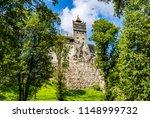bran  romania  the bran castle  ... | Shutterstock . vector #1148999732