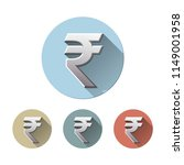 set of rupee currency symbol on ... | Shutterstock .eps vector #1149001958