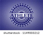 athlete badge with jean texture   Shutterstock .eps vector #1149003212
