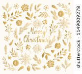 christmas card with winter... | Shutterstock .eps vector #1149009278